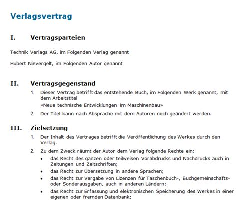Muster Praktikumsvertrag Schweiz Verlagsvertrag Muster F 252 R Ein Verlagsvertrag Mit Konkurrenzklauselnvarianten