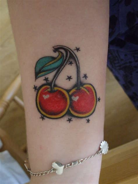 small cherry tattoos 70 best cherry tattoos images on cherry