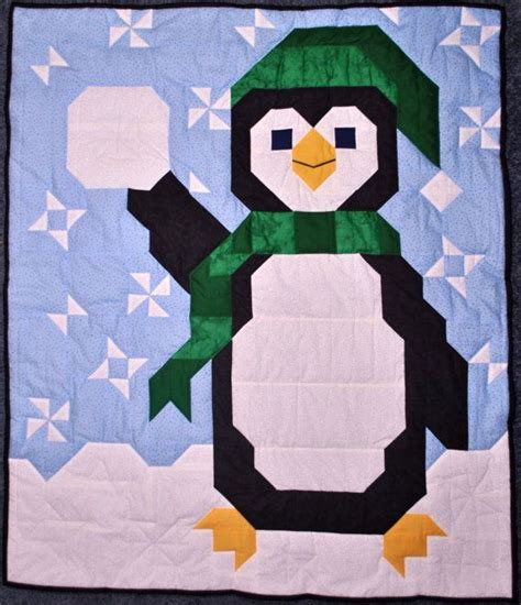 Penguin Quilt Pattern by Penguin Baby Quilt Pattern In Sizes Pdf By