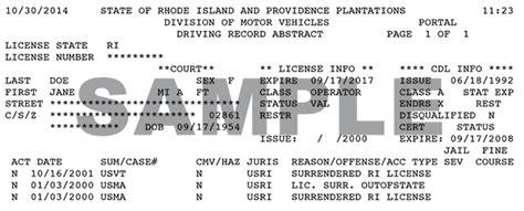 Records Rhode Island Rhode Island Dmv Driver Records Autos Post