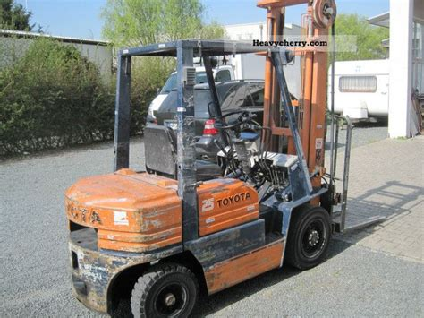 toyota 5 fd 25 2012 front mounted forklift truck photo and