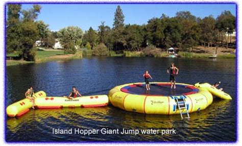 big boat with slide inflatable trolines water troline or bouncer and