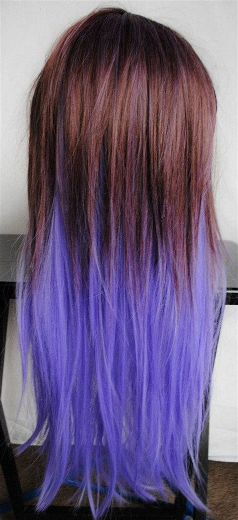 what purple hair dip dyed with black looks like halloween sale amethyst wig purple dip dye by