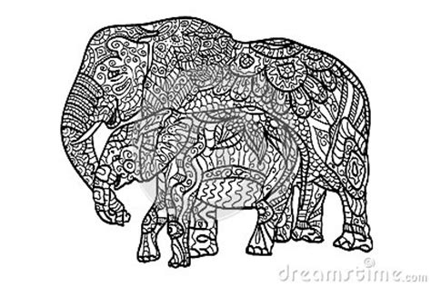 stress relief coloring pages elephant relaxing coloring elephants stock illustration image