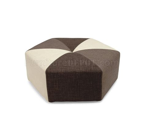 brown fabric ottoman olive sand brown fabric modern tri tone stylish ottoman