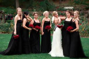 and black wedding best wedding flowers for black bridesmaid dresses