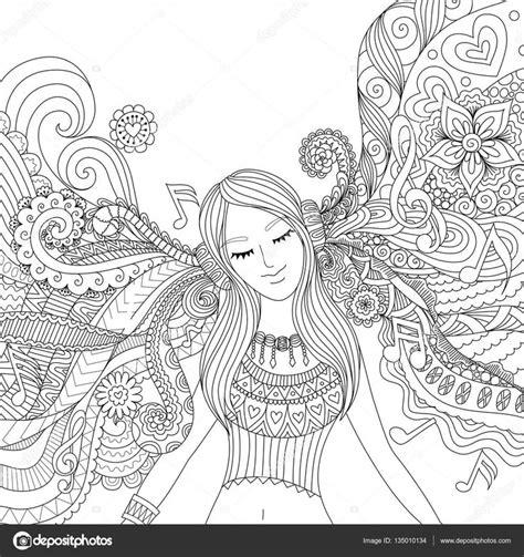 descargar colour my sketchbook adult colouring book libro de texto descargar ni 241 a escuchar m 250 sica adulto para colorear libro ilustraci 243 n de stock 135010134