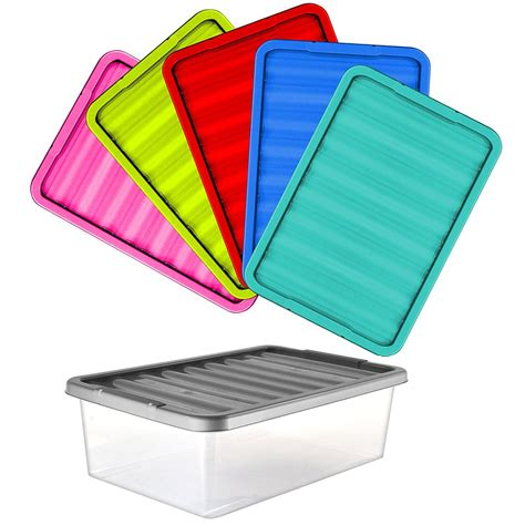 32 litres large plastic underbed storage clear box with