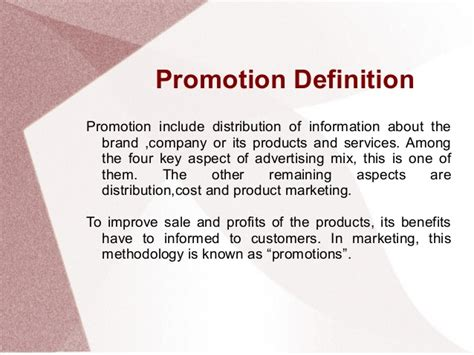 Sales Promotion Letter Meaning promotion mix and promotion type