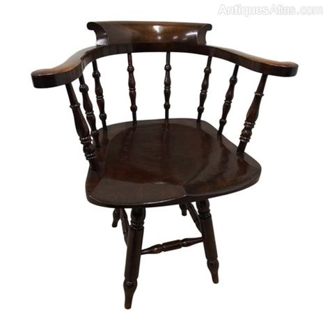 Solid Stained Beech Swivel Captains Chair Antiques Atlas Swivel Captains Chairs