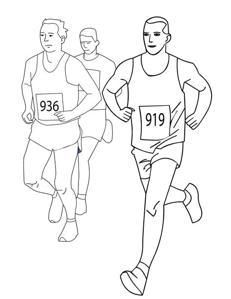 Running Track Coloring Pages Coloring Pages Track Coloring Page