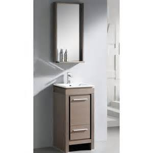fresca allier 16 quot single small modern bathroom vanity set