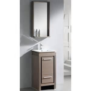 Bathroom Vanities And Mirrors Sets Fresca Allier 16 Quot Single Small Modern Bathroom Vanity Set With Mirror Reviews Wayfair