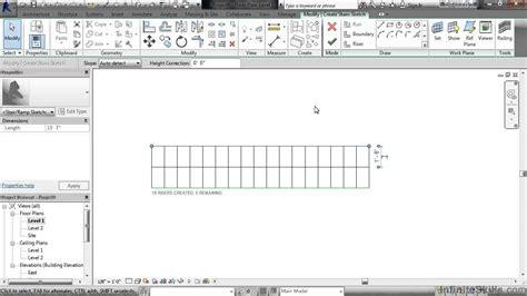 revit handrail tutorial revit stairs and railings tutorial stair by sketch