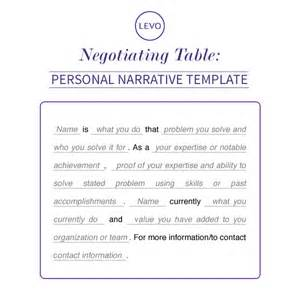 personal narrative template negotiating table personal narrative template levo