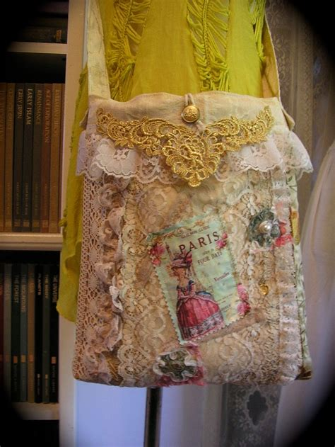 shabby bag chic shabby purse french embellished ruffled