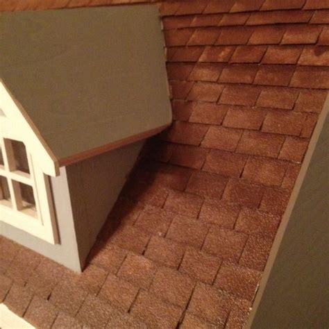 dollhouse shingles dollhouse roof shingles made from sandpaper craft
