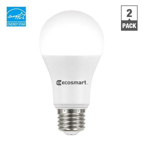 Ecosmart 100w Equivalent Daylight A19 Dimmable Led Light 100 Watt Equivalent Led Light Bulbs For Home