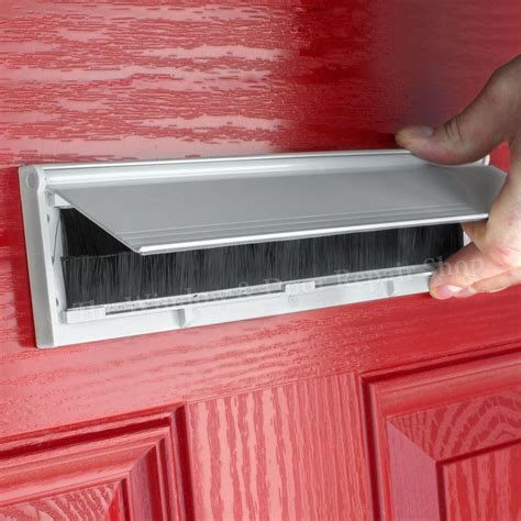 pvc door metal letter box plate seal flap cover brush