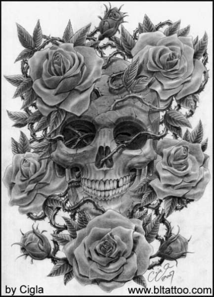 skulls and roses tattoo designs best 25 skull tattoos ideas on mandala