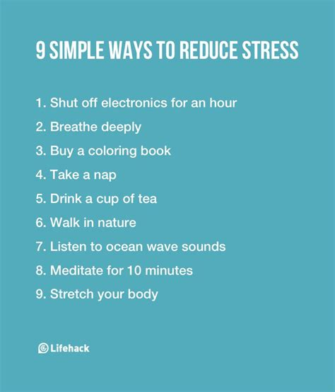 reduce anxiety 9 simple ways to reduce stress