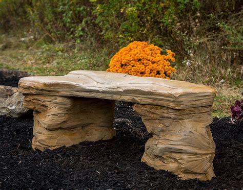 Rock Benches For Garden Concrete Rock Garden Bench