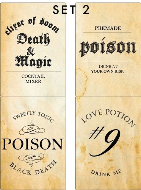 printable poison labels 9 best images of printable halloween poison labels