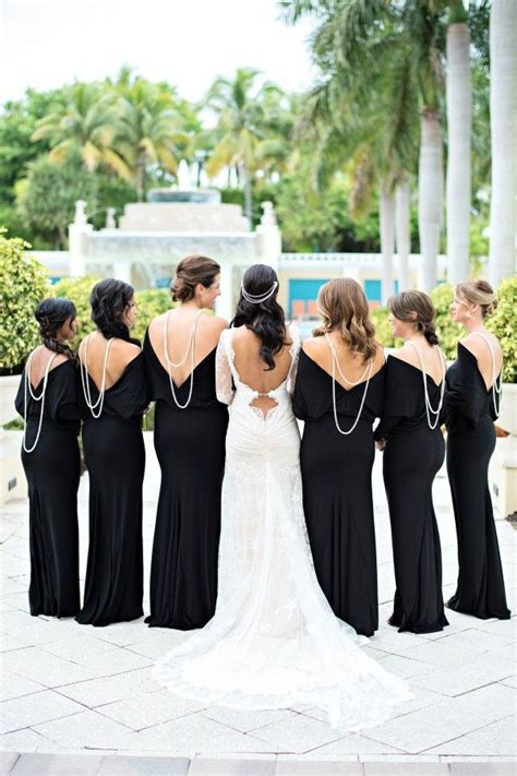 Black And White Wedding Dresses by Stunning Black And White Wedding Photos