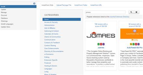 manual joomla upgrade installation and upgrading jomres user manual