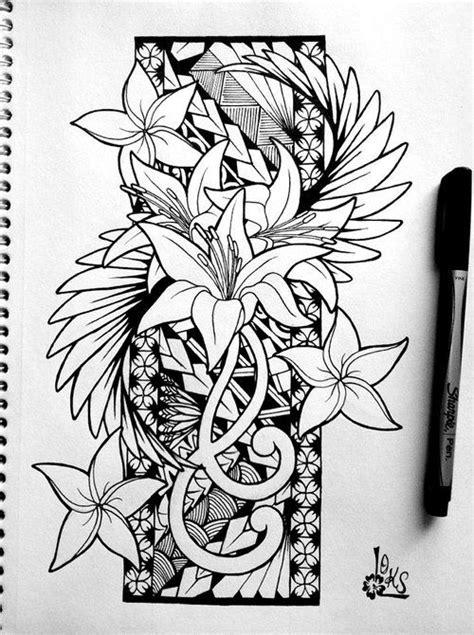 tribal hawaiian flower tattoo beautiful design by loks tat ideas