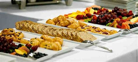 Office Breakfast Catering White Platters Are Sharp Breakfast Buffet Catering
