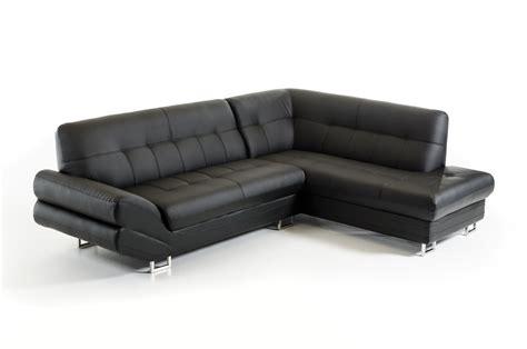 casa leather sofa divani casa 1504 modern black bonded leather sectional sofa