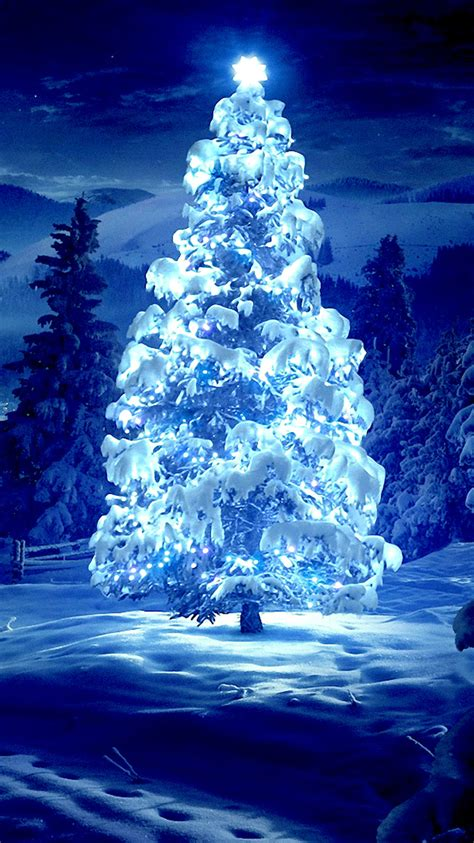 beautiful christmas tree iphone 6 wallpaper hd iphone 6