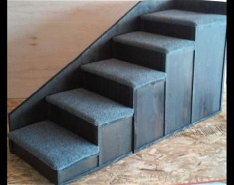 pet steps for tall beds 30 inch tall 5 step pet stairs bed step by mikeduffe on etsy