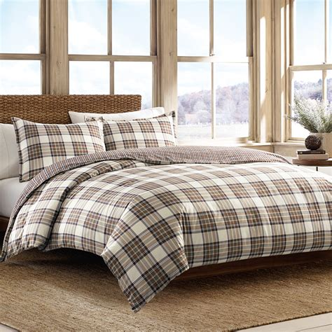 eddie bauer bedroom set eddie bauer edgewood plaid khaki duvet set from