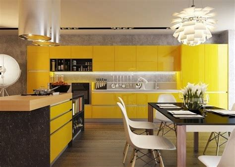 black white yellow kitchen de 300 fotos cocinas modernas 2017 ideas para decorar