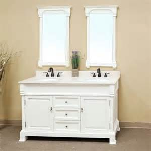 bellaterra calabria 60 in antique white bathroom
