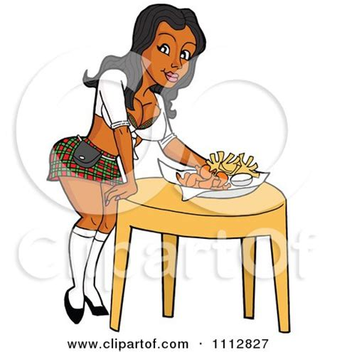 set the table clipart of a cartoon blond german waitress carrying a beer