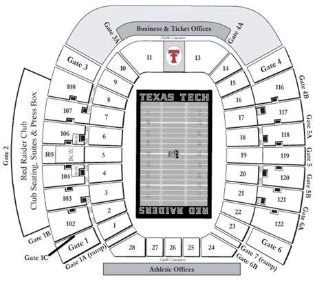 texas tech football seating map texas tech raiders 2010 football schedule