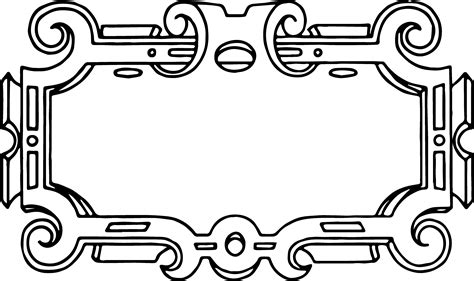 frames vector free free vector ornate frame border clip image oh so