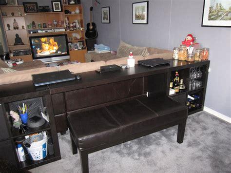 Expedit Sofa Table Bar Computer Desk Ikea Hackers Ikea