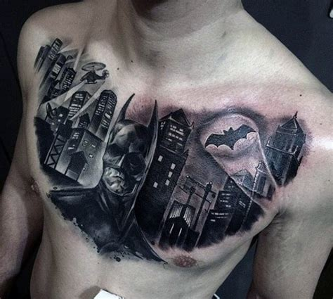 batman tattoo on chest 100 batman tattoos for men superhero ink designs