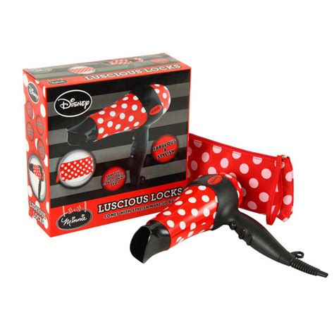 Minnie Mouse Hair Dryer Set minnie mouse locks hair dryer gift set