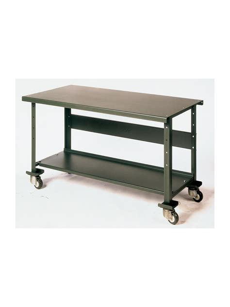 Mobile Workbench With Folding Shelf Top Preferred Home Design