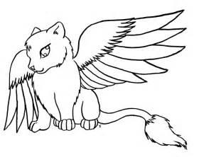 angel kitten drawing www galleryhip hippest pics