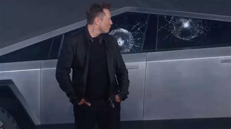 musk explica por  se rompio el vidrio de la cybertruck