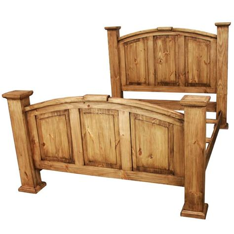 Rustic Bed by Rustic Pine Collection Mansion Bed Cam09