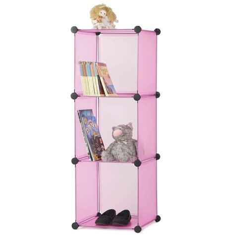shoe storage system 3 interlocking cube storage system pink blue black white