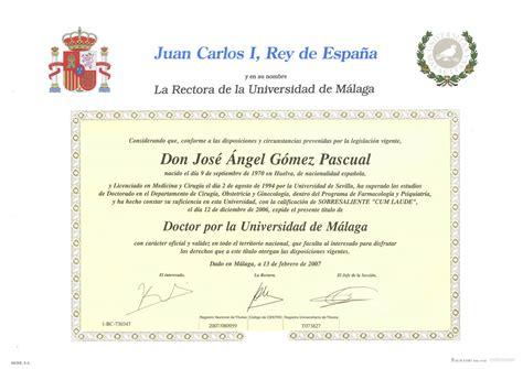 Modelo Curriculum Ucm Titulo Doctor Universidad De Malaga Alta Especialidad Pedi 225 Trica