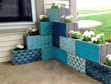 concrete block planters 25 best ideas about concrete blocks on garden
